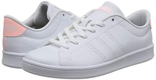 Qt Footwear Advantage Adidas Mujer Blanco White White Zapatillas 0 Footwear Clean Clear Orange para qzEdEx