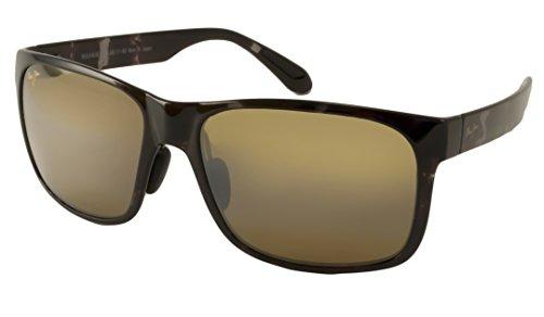 Maui Jim Red Sands Polarized Sunglasses Black and Grey Tortoise / Neutral Grey One - Readers Jim Maui Sun