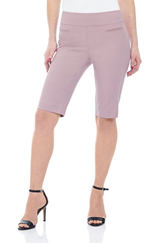 - Rekucci Women's Ease in to Comfort Fit Pull-On Modern City Shorts (6,Lavender Mist)