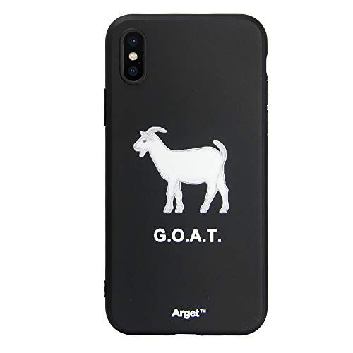 Arget one of a Kind Goat iPhone case. G.O.A.T. Design Unisex and All Ages. Cute, Stylish, Luxury iPhone case for Sizes 7/8, 7s/8s, X, XR Made Greatest of All time. (X/10)