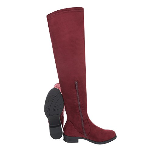 Ital-Design Women's Boots Block Heel Over-Knee Boots at Weinrot W5FhEU