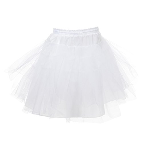Remedios Kids Mini 3 Layers Wedding Flower Girl Petticoat/Underskirt/Crinoline, Child (waist ca.20-28inch) -