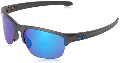 Oakley Men's OO9413 Sliver Edge Square Sunglasses, Silver/Prizm Sapphire Polarized, 65 ()