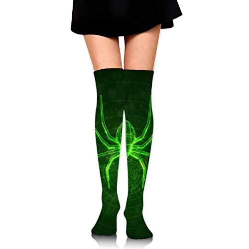 Knee High Socks Spider Web Glow in The Dark Women's Athletic Over Thigh Long Stockings ()