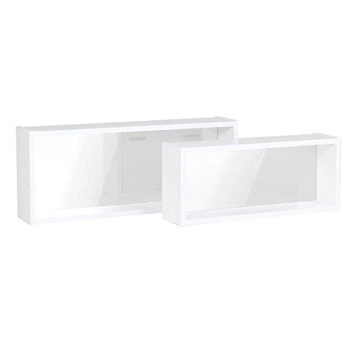arne 壁掛けミラー 鏡 シェルフ ラック 薄型 Mサイズ WallBoxSeven Htype単品M ナチュラル B00P0IDSWE 長方形ミラーMサイズ|ナチュラル ナチュラル 長方形ミラーMサイズ