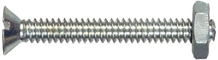 The Hillman Group The Hillman Group 1767 6-32 x 1-1//4 In Flat Head Slotted Stove Bolt with Nuts 40-Pack