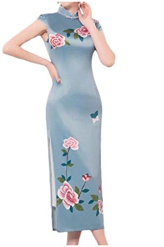 Women up Stand Dress Mermaid 16 Cheongsam Dresses Collar Wedding Coolred Party dqPXx5Ewd