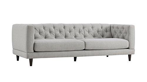 Natuzzi Editions Zeno Light Grey Linen Stationary Sofa ()