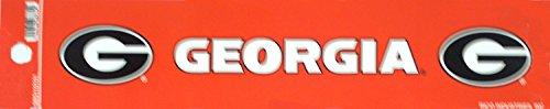 """Price comparison product image Rico NCAA Licensed Georgia Bulldogs 2"""" X 10"""" Bumper Sticker"""