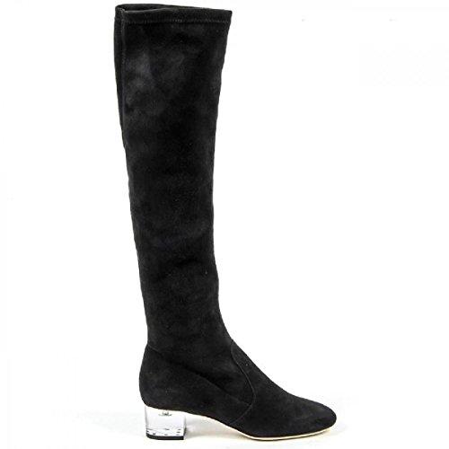 Versace 19.69 Hohe Stiefel Damen/Damen-Bootsschuhe Fersen 4.5 cm 100%Wildleder Leder