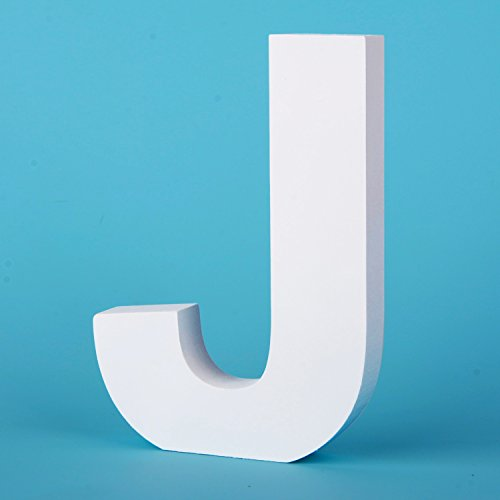 Takefuns Large Wall Letters Marquee Alphabet Decorative Wood Letters Hanging Wall 26 Letters Diy Block Words Sign for Children Baby Name Girls Bedroom Wedding Birthday Party Home Décor,Letter J -