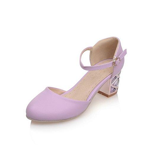 Sandales Femme 1TO9 Inconnu Violet Compensées 5Xw50T8q