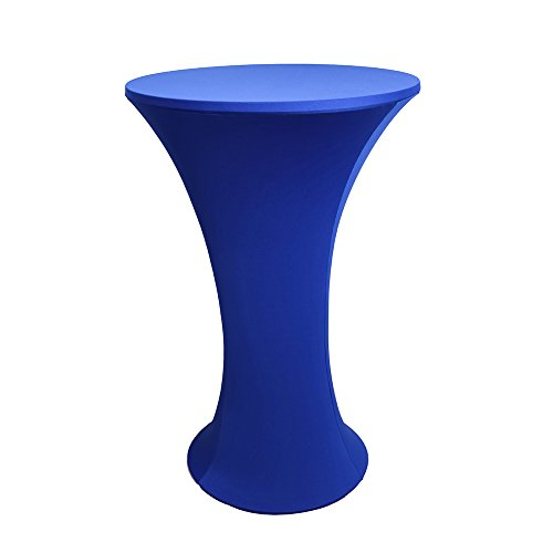 JISEN Cocktail Spandex Fitted Stretchable Elastic Tablecloth 24x43 Inch Royal Blue