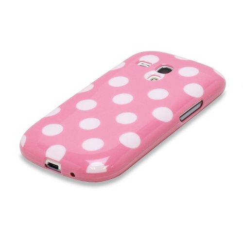 Fosmon DURA Series Polka Dot Flex TPU Case for Samsung Galaxy S3 III mini / GT-I8190 - Pink
