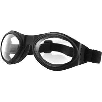 - Bobster Bugeye Motorcycle Cruiser Sunglasses/Goggles - Black/Clear/One Size Fits All