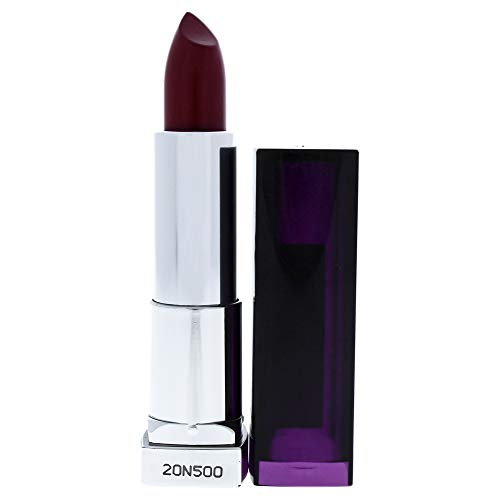 Maybelline New York Color Sensational Purple Lipstick, Satin Lipstick, Blissful Berry, 0.15 oz.
