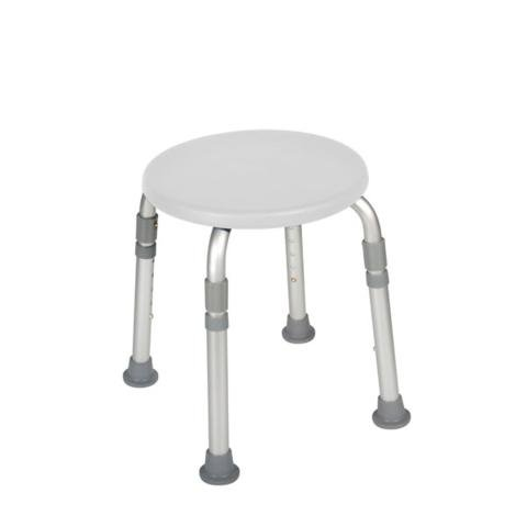 Drive Medical Designer Series Adjustable Height Bath Stool, White Drive Medical Designer Series