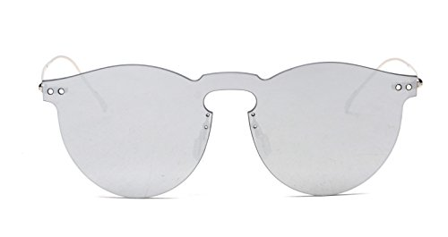 GAMT Vintage Rimless Mirrored Sunglasses Unisex Design Mercury