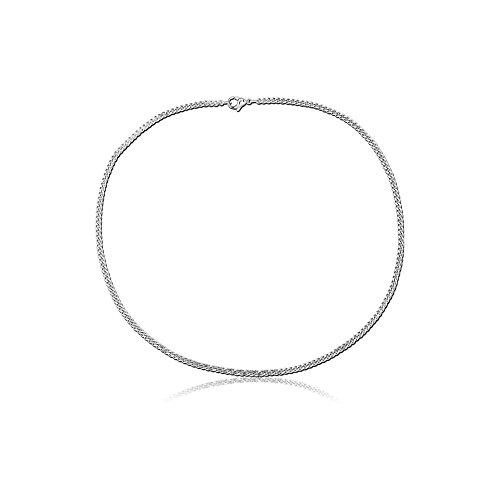 Acier inoxydable plat Curb Chain SCH044 1.2 x 3mm x 45cm