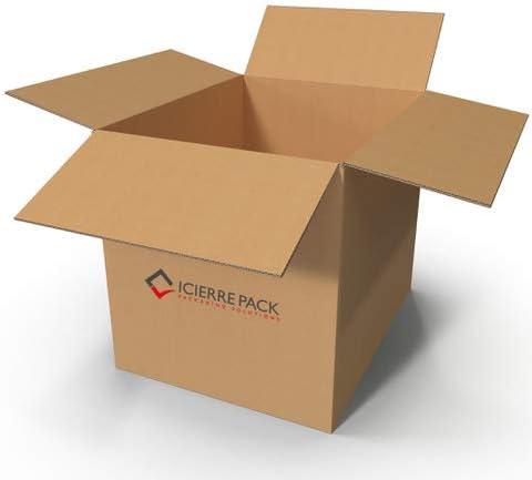 ICIERRE PACK- Scatola di Cartone Doppia Onda Scatoloni 60x40x30 cm 15 Pezzi Imballaggi per Spedizione e Trasloco