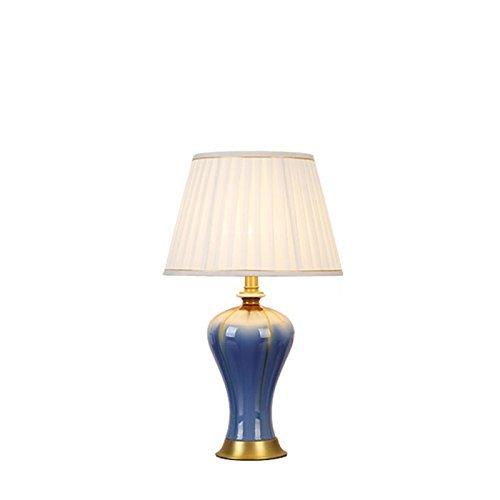 Aexu Schick Kupfer Glasur Keramik Schreibtischlampe Schlafzimmer