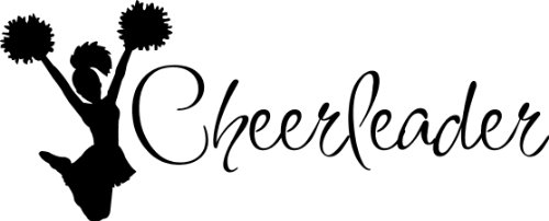 Cheerleader Decal wall saying vinyl lettering art decal quote sticker home decal