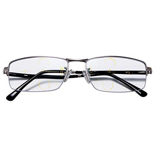 (렌산) LianSan 누진 다 초점 원근 양용 돋보기 남성 여성 남성 여성 나일론 프레임 앞 유리 수석 글라스 세련된 안경 촛점 L8516