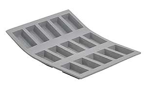 "ELASTOMOULE Silicone Mold, 15 Mini-Financiers, 8.25"" x 7"""