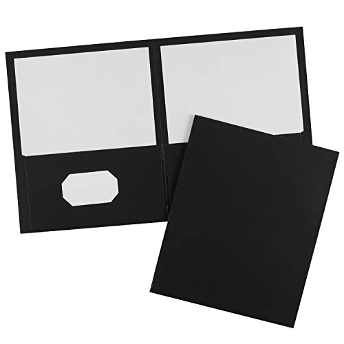 Avery Two-Pocket Folders, Black, Case Pack of 125 Folders (47988) ()