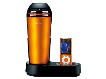 96788e5094 SONY iPod/iPhone用ドックスピーカー 車載用シガー電源対応 オレンジ SRS-V500IP