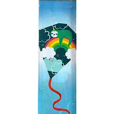 Kite 22 in Poly Diamond Rainbow Sloth: Toys & Games