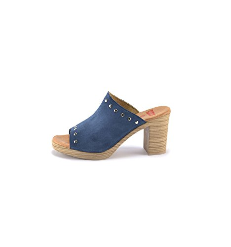 CONBUENPIE H034CA, Chaussures Femme Bleu Jean