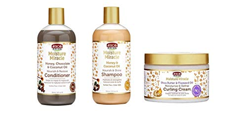 African Pride Moisture Miracle Combo (COND&SH&CREME)