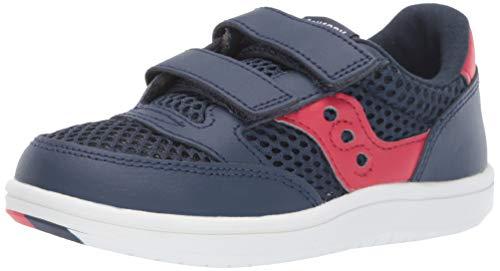 Saucony Boys' Baby Jazz Court Sneaker, Navy/mesh, 090 Medium US Toddler (Saucony Boy Toddler Shoes)