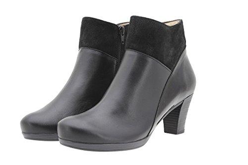 PieSanto Women's 9805 Black Leather Ankle Boot Comfort Extra Wide 41 W EU (10.5-11 C/D US Women) by PieSanto (Image #1)