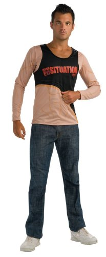 Jersey Shore The Situation Flesh Shirt With Tattoos, Tan, Large Costume