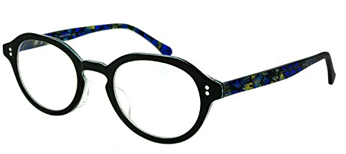 64a90dd1511ca5 Amazon | (venus venus) メガネ フレーム レディース ボストン型 1502-1 女性 眼鏡 venus×2 黒ぶち  [ダミーレンズ付き] | ファッション眼鏡 通販