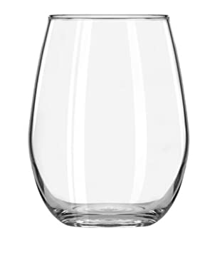 Libbey 11.75-Ounce Clear Vina Stemless Wine Taster Glass, Set of 12