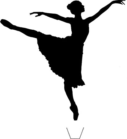 3c1f1fc4e7d8b Novelty Dancing Ballerina Silhouette 12 Edible Stand up wafer paper cake  toppers (5 - 10