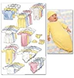 McCall's Patterns M6103 Infants' and Preemie Layette, One Size Only