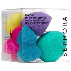 Sephora Confetti Set of 5 Uniquely-Shaped Mini Sponges