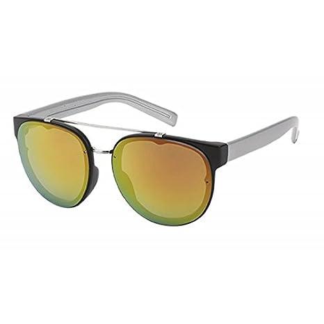 Chic-Net Sonnenbrille Retro Vintage 400 UV Metalldoppelsteg Rahmen innen Zierleiste orange jcbtVeKyEi
