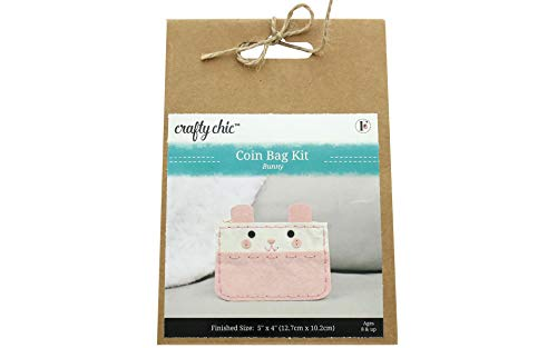 Fabric Editions Needle Creations Felt Coin Purse Kit-all Eyes On You Bunny