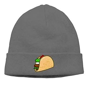 Men and Women Clip Art Taco Knit Beanie Cap Winter Warm