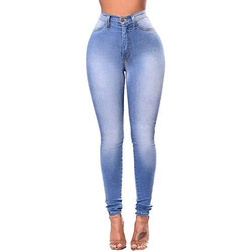 Jeans pour MISSKERVINFENDRIYUN Taille 003 Blue3 Femme Extensible Amincissants et Skinny Haute CHHf5qw