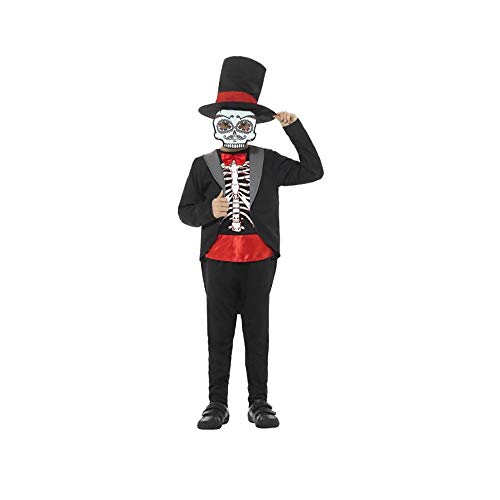 Smiffy's 45189M Day of the Dead Boy Costume, Black, Medium