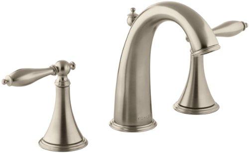(KOHLER K-310-4M-BV Finial Traditional Widespread Lavatory Faucet, Vibrant Brushed Bronze)