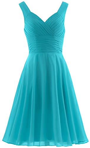 - ANTS Women's Pleated Sweetheart Bridesmaid Dresses A Line Cocktail Gown Size 4 US Jade