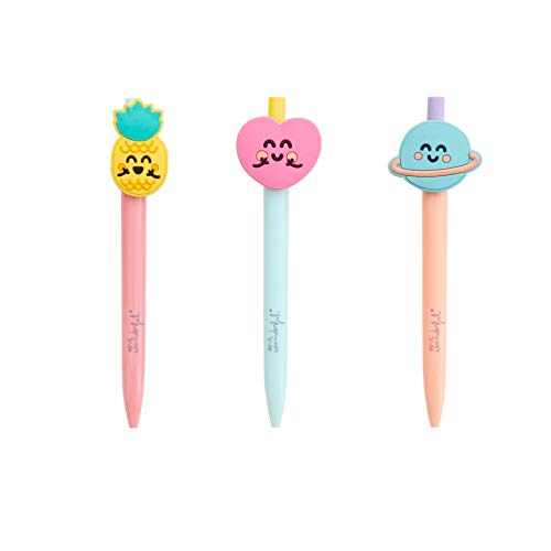 Talla /Única Mr Wonderful Set of 3 pens with Shapes