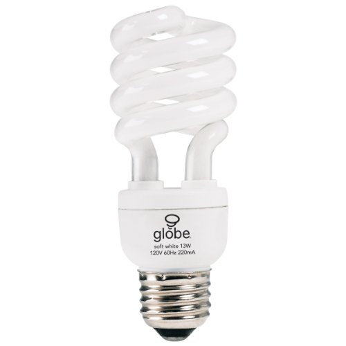 - Globe Electric 2852401 13-Watt (60-Watt Equivalent) EnerSaver CFL Light Bulb, 2 Pack